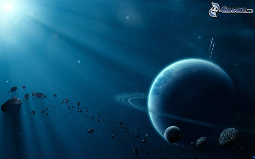 Planeten, Asteroiden, Sonnenstrahlen