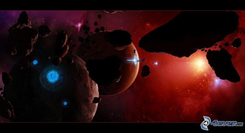 Planeten, Asteroiden