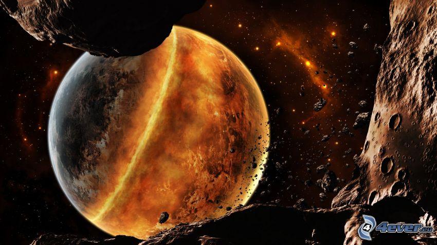 Planeten, der meteorische Schwarm
