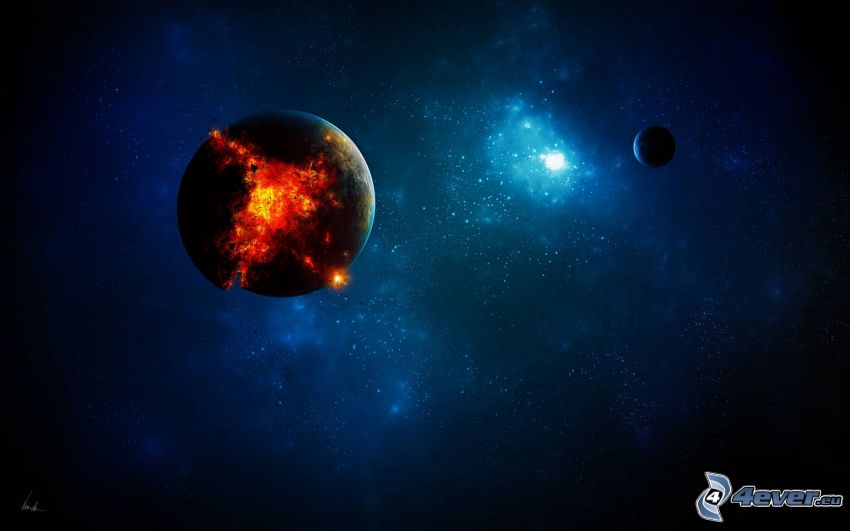 Planeten, Explosion