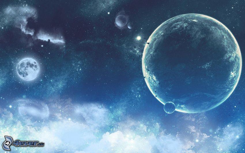 Planeten, Nebel