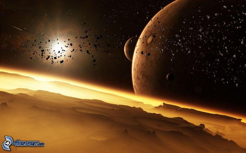 Planeten, Sonne, Asteroiden