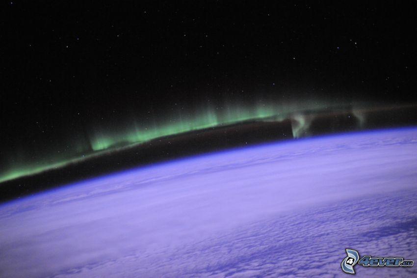 Polarlicht, Erde, Atmosphäre, wolkenbedeckt