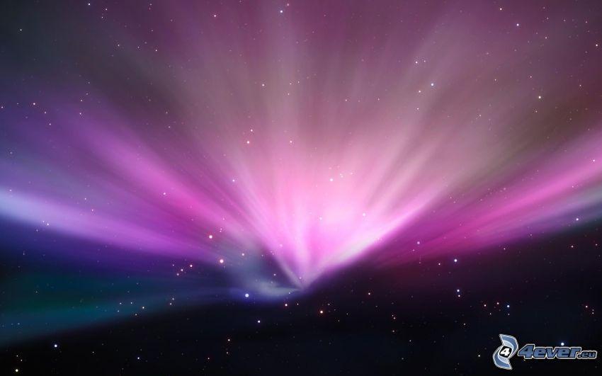 Raum glühen