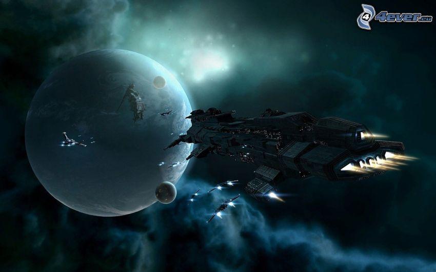 Raumschiff, Planeten