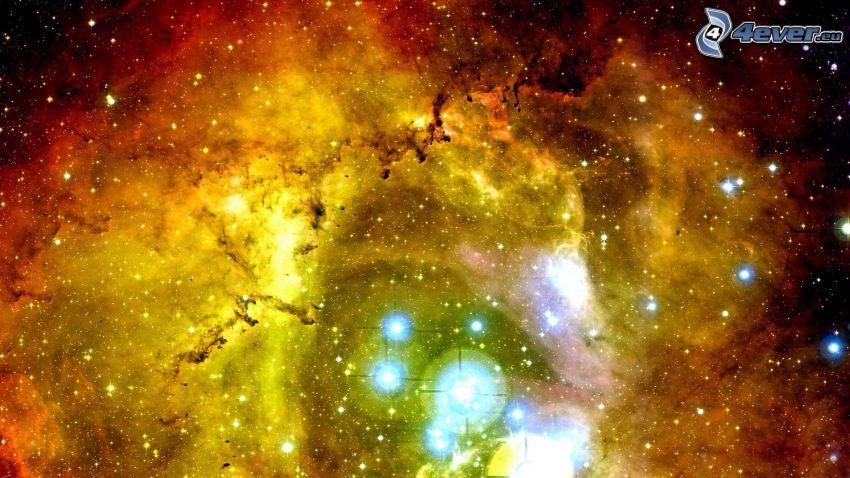 Rosettennebel, Sterne