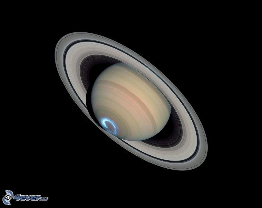 Saturn, Polarlicht