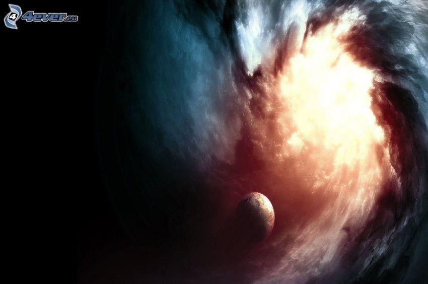 Schwarzes Loch, Planet