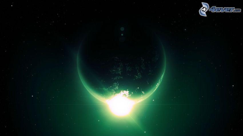 Sonne hinter der Erde