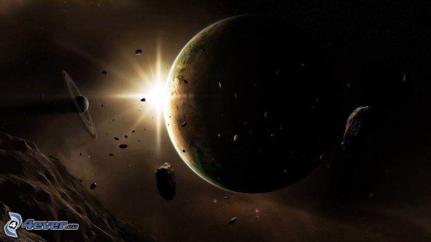 Stern für den Planeten, Planeten, Asteroiden