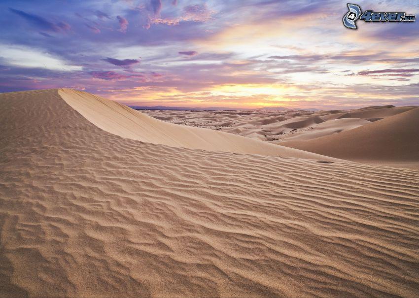 Wüste, Abendhimmel