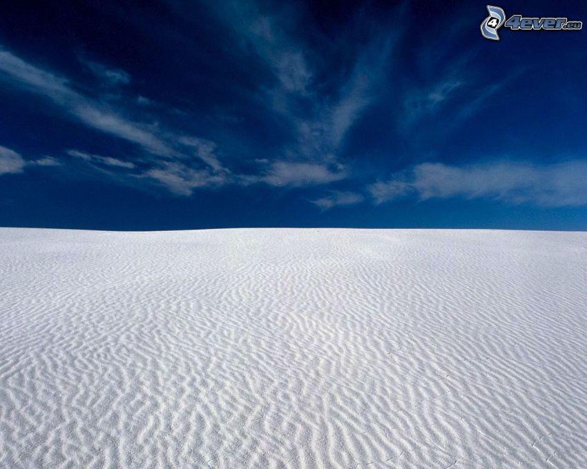 Wüste, Sand, blauer Himmel