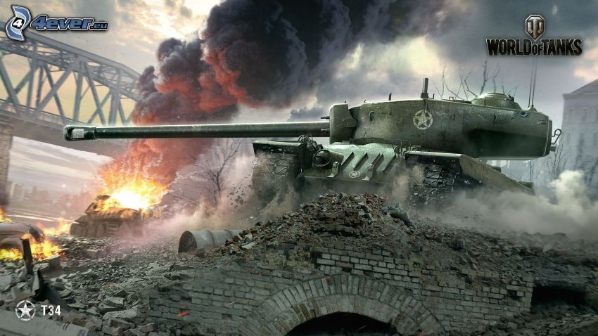 World of Tanks, Panzer, Schießen, Brücke