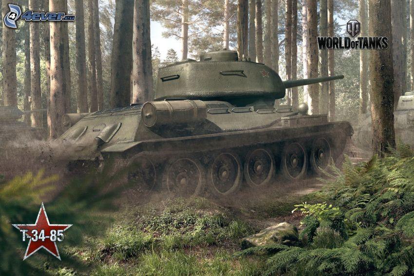 World of Tanks, T-34, Panzer, Wald