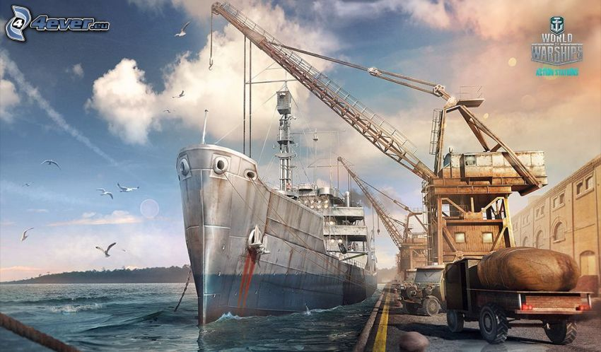 World of Warships, Schiff, Hafen