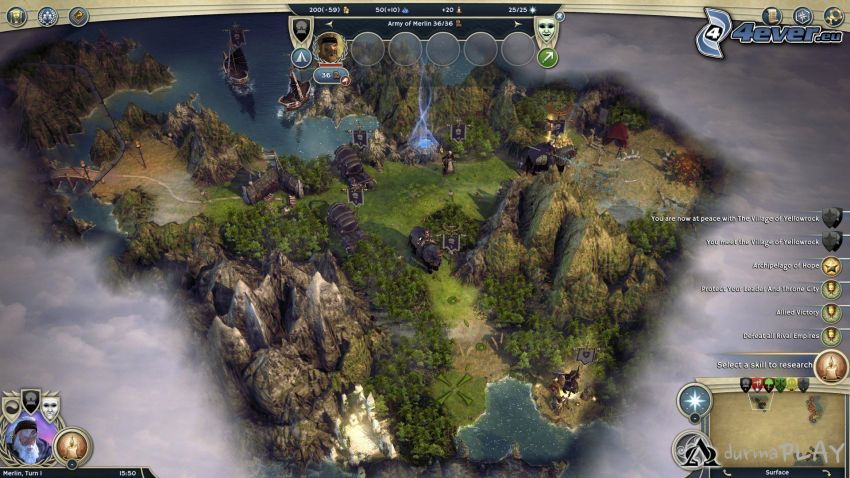 Age of Wonders, felsige Berge