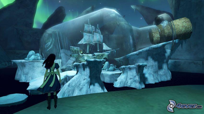Alice: Madness Returns, Segelschiff in einer Flasche