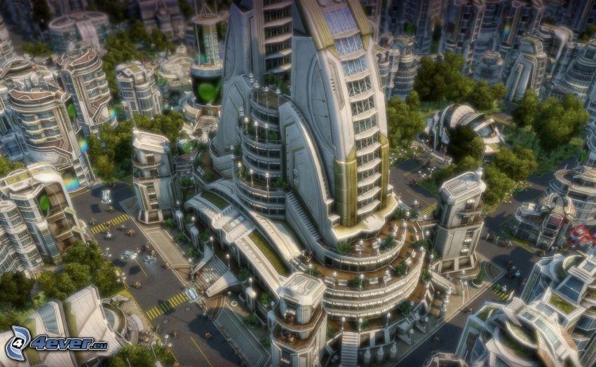 Anno 2070, Sci-fi Stadt