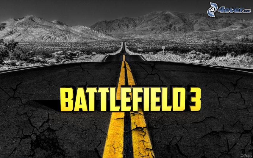 Battlefield 3, gerade Strasse, Berge