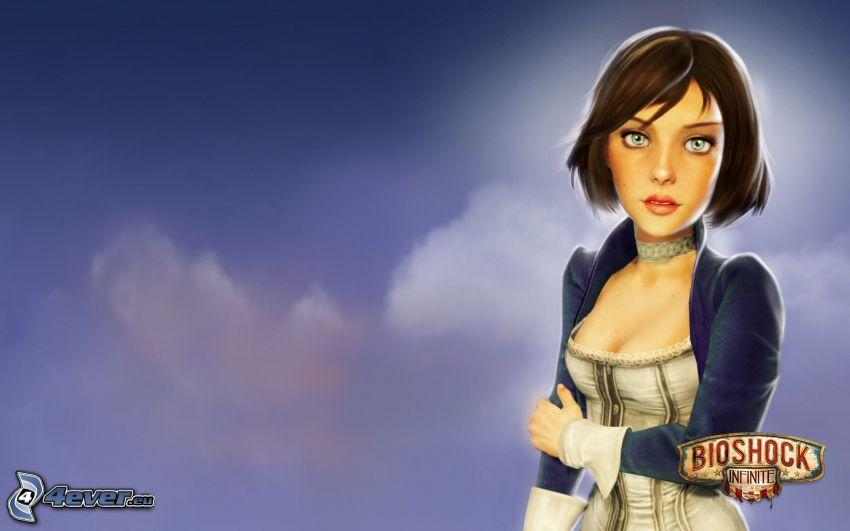Bioshock: Infinite, gezeichnete Frau
