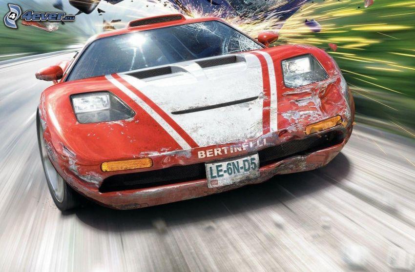 Burnout Legends, Rennwagen, Geschwindigkeit