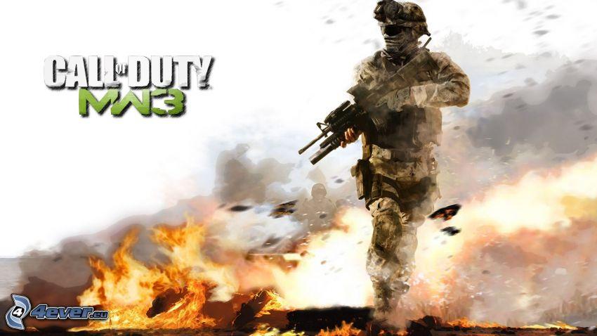 Call of Duty: Modern Warfare 3, Soldat, Feuer