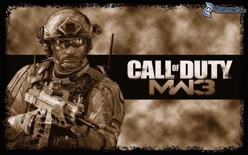 Call of Duty: Modern Warfare 3, Soldat mit einem Gewehr