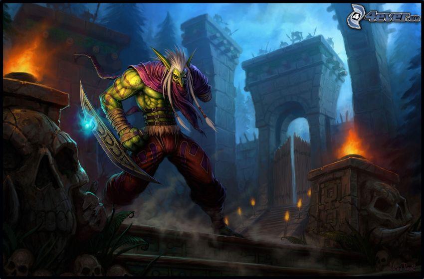 Fantasy Kämpfer, PC-Spiel, Burg
