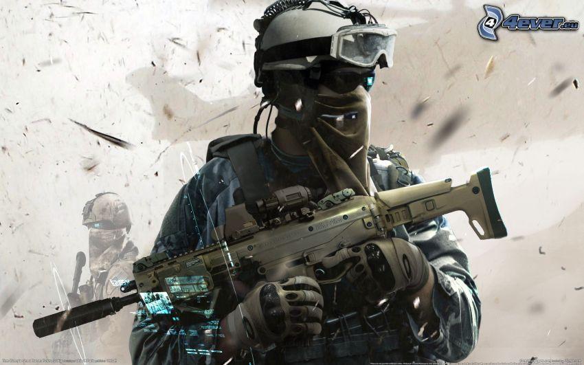 Ghost Recon: Future Soldier, Soldat mit einem Gewehr