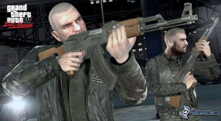 Grand Theft Auto, Mann mit einem Gewehr, AK-47, Kalaschnikow