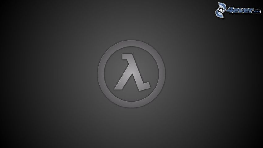 Half-life, logo, schwarzem Hintergrund