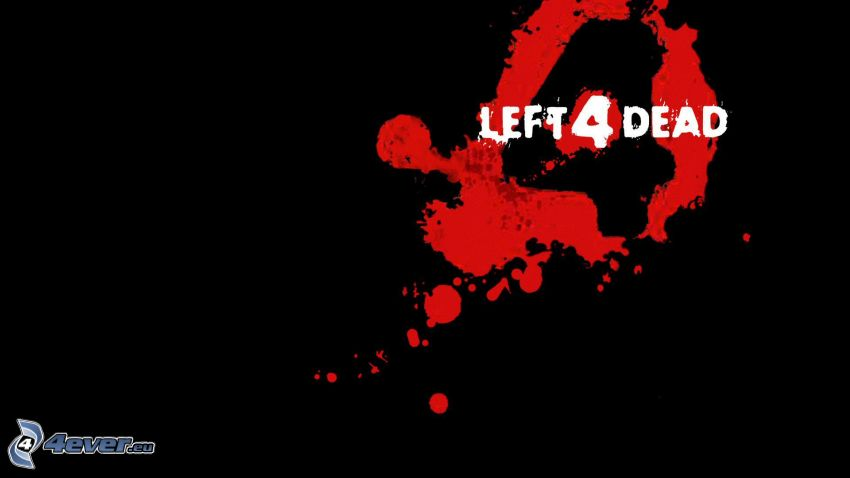 Left 4 Dead, rote Farbe, Tintenfleck