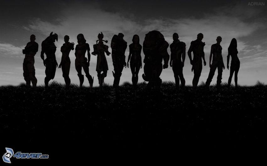 Mass Effect, Silhouetten von Menschen