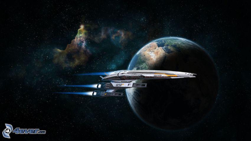 Mass Effect 3, Erde, Raumschiff, Universum