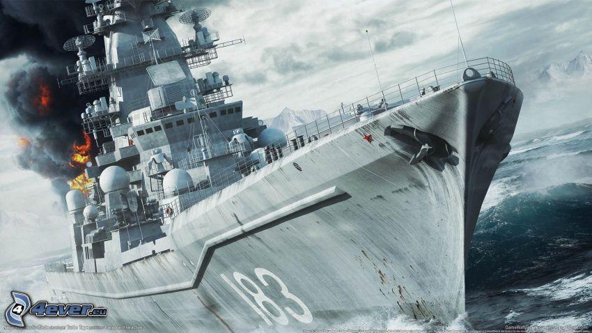 Naval War: Arctic Circle, Kriegsschiff