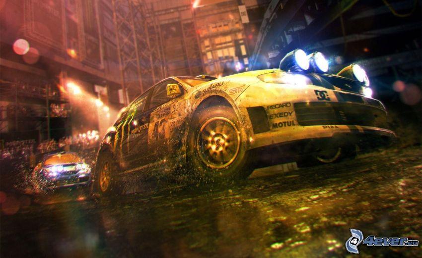 PC-Spiel, gezeichnetes Auto