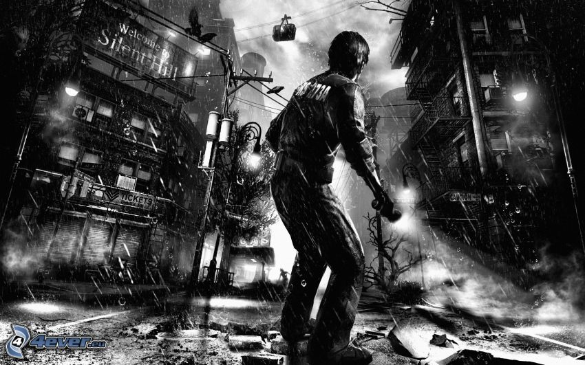 Silent Hill, postapokalyptische Stadt