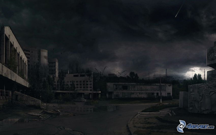 Stalker, Abend, Gewitterwolken