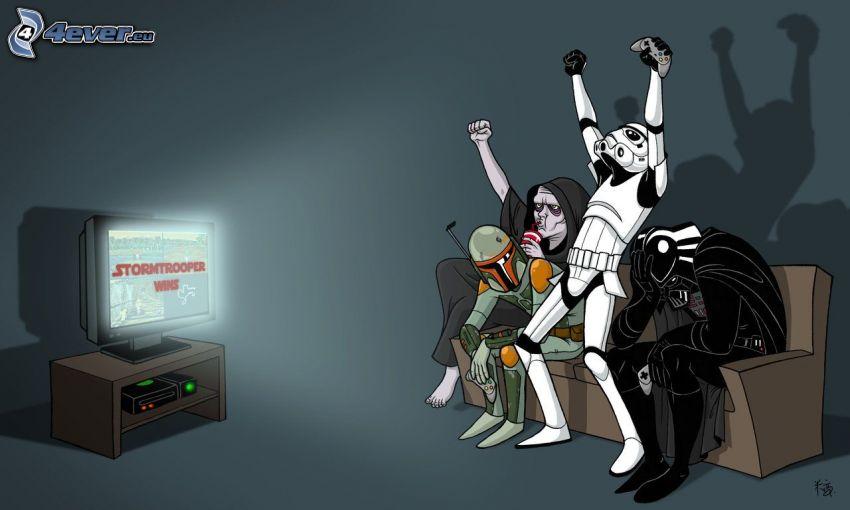 Star Wars, Parodie, Stormtrooper, Darth Vader