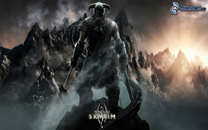 The Elder Scrolls Skyrim, dunkler Kämpfer