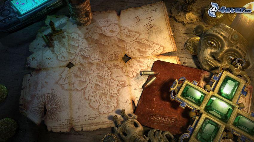 Uncharted: Drakes Fortune, historische Landkarte