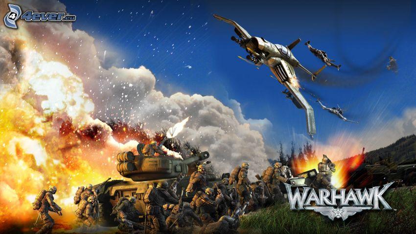 Warhawk, Krieg