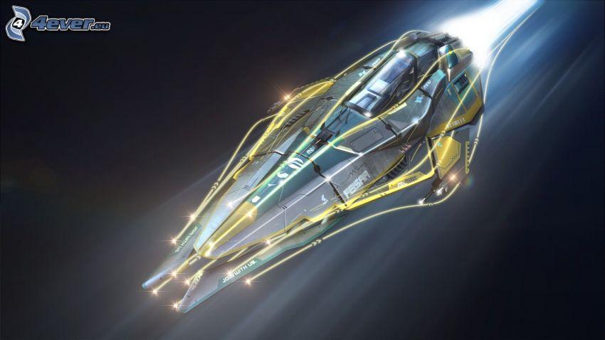 Wipeout 2048, Raumschiff