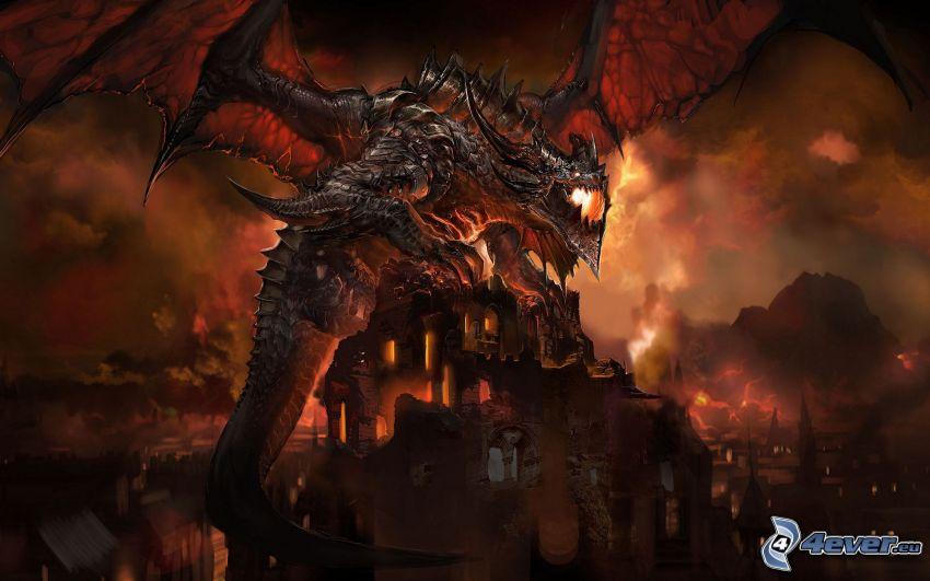 World of Warcraft, cartoon Drachen