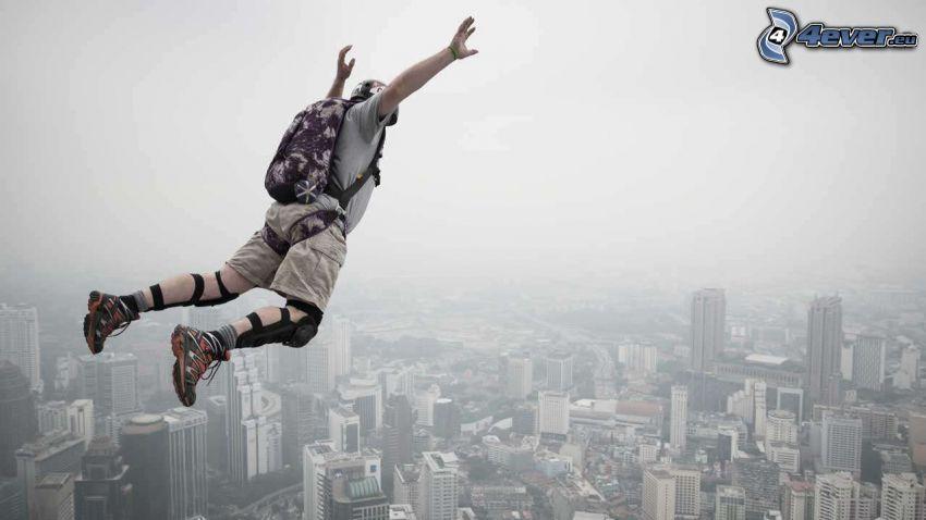 BASE Jump, Sprung, Wolkenkratzer