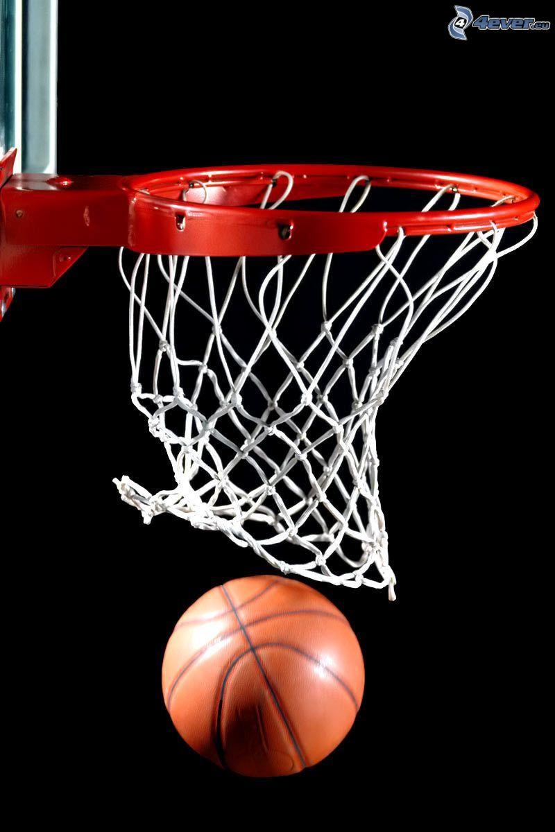 Basketballer Korb, basketball-Ball
