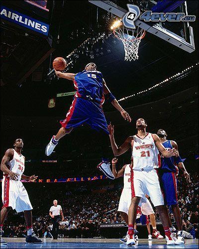 Basketballspieler, Korb, NBA