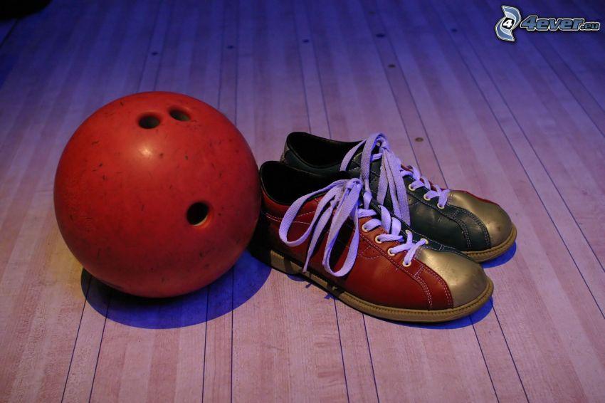bowling, Bowling-Kugel, Bowling-Schuhe