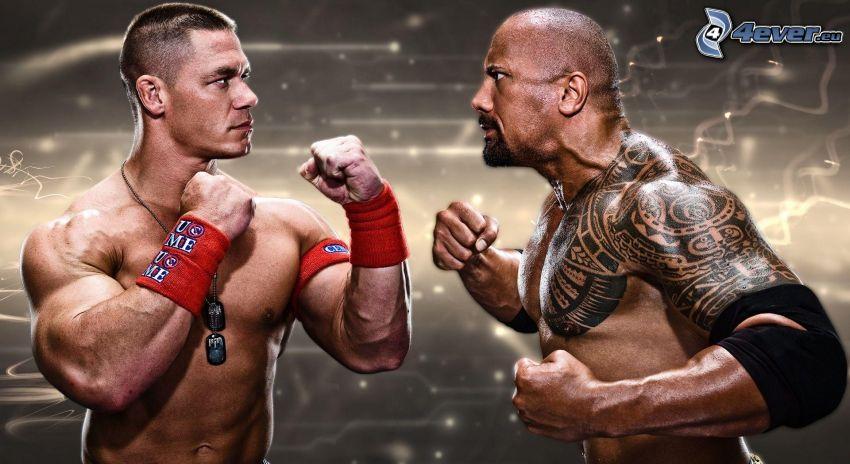 Boxer, muskulöser Kerl, Tätowierung