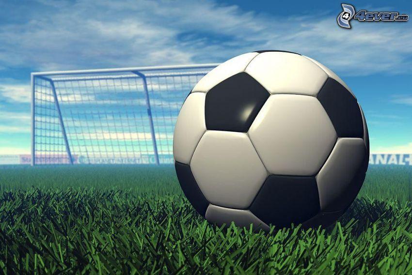 Fußball, Ball, Gras, Tor